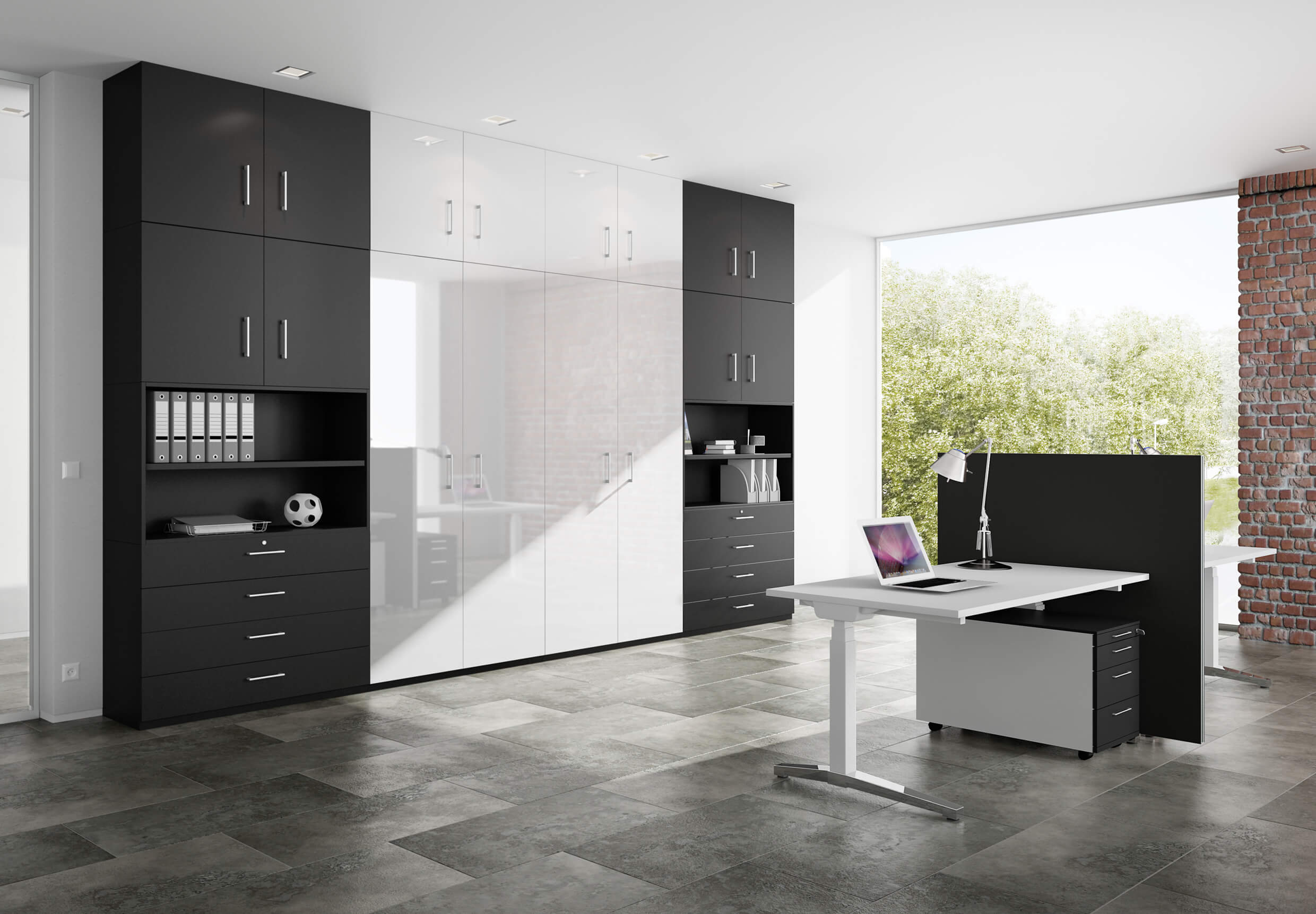 remarkable modern home office furniture designs | Modern office cabinets in Los Angeles